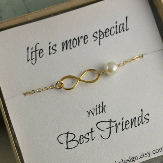 Best Friends Necklace, Infinity Necklace, Mother Of Bride Gift ...